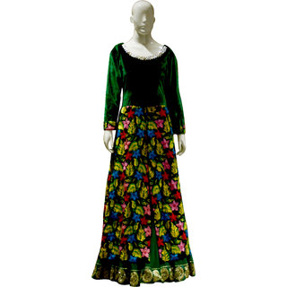 Long Floral Gown Suit