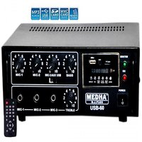 MEDHA  60 WATT PROFESSIONAL HIGH POWER P.A. AMPLIFIER WITH 1 YEARS WARRANTY