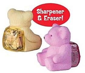 TEDDY FUN ERASER AND SHARPNER SET OF 2 PIECES