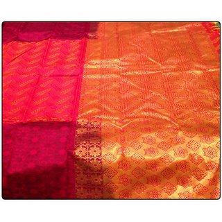 Ethnic Kanjivaram Saree ; A Saree with both modern and traditional look.