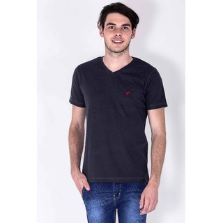 SERA MUSCLE FIT V-NECK TEE GREY