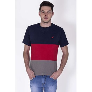 SESS15ME1016-Red-S-MULTICOLOR PANEL TEE