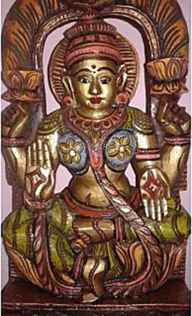 Lordess Lakshmi wooden idol