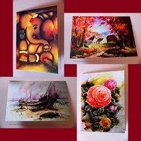 Designer Cards Multicolor Set Of 4