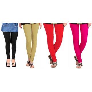 Multicolour Viscose Leggings Combo of 4