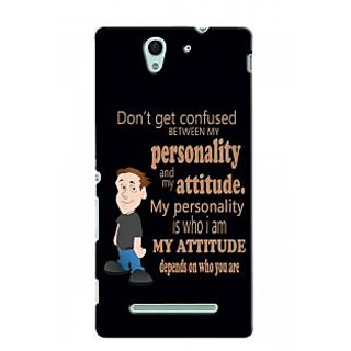 Snooky Back Cover Cases For Sony Xperia C3 Black - 30512