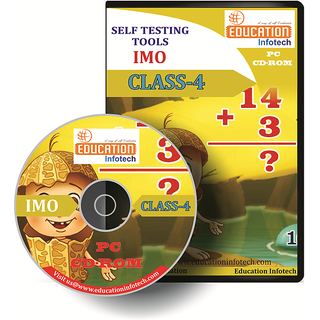 IMO CLASS 4 English Offline Test Papers CD by Education Infotech