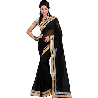 Jai ho collection designer black saree