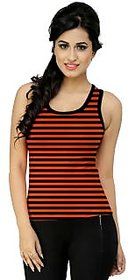 Black n Orange Sleeveless Top
