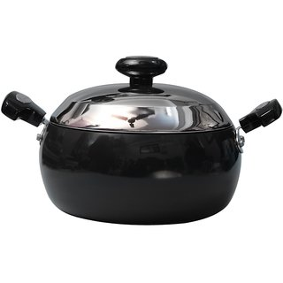 Prestige Non Stick Aluminium HA Sauce Pan With Lid - 200 mm