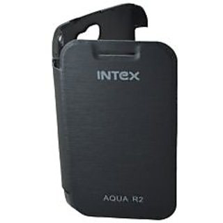 TOTTA Hard Back Flip Cover For Intex Aqua R2