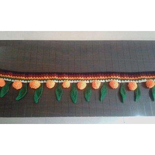 Crochet Woolen Toran Multicolor