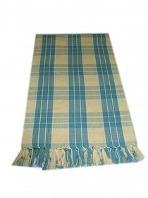 xy decor Yellow  Green Colour Checked Design Cotton Bath Towel