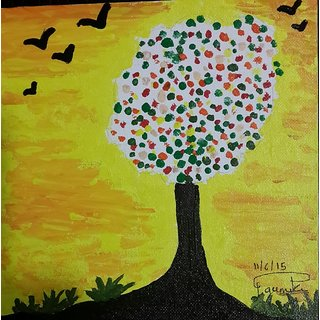 painting tree of happiness