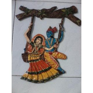 krishna radha wall mural