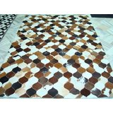 HDP - ( Home Decor Paradise ) Leather Patchwork Hair On Hide Rugs