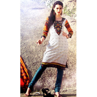 Women Blue and White Channo Salwar Suit