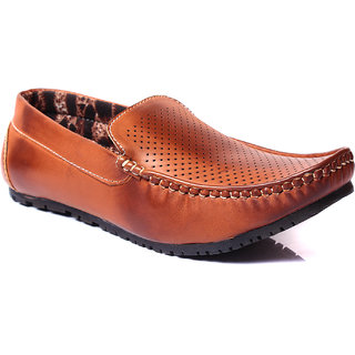 Blue Tuff  Mens Stylish Casual Loafers Brown BT-302