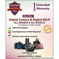 InfyShield Extended Warranty for 1 Year on Digital Cameras & Digital DLSR Priced Between 10,000 to 20,000