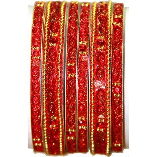 Lac Bangles (BL-07) Red
