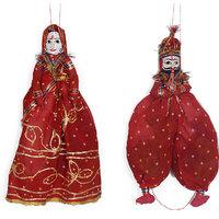 Rajasthani  Red handmade  Puppet/Kathputali