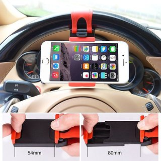 Universal Car Steering Wheel Clip Mount Holder Cradle Stand For Samsung Galaxy