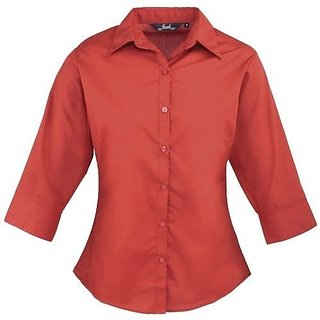 Women's Short Sleeve blouse, Ladies Plain Work Shirt