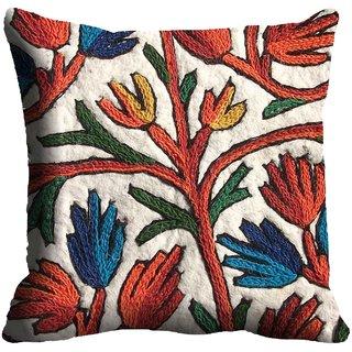 meSleep Flower Bold Cushion Cover (20x20)