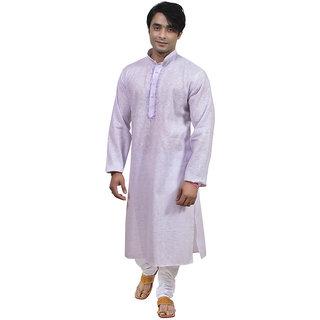 Rajwada Golden Nice Ethnic Mala Embroidery Kurta Pyjama Set For Men