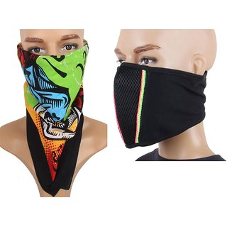 Jstarmart Headwrap With Antipollution Mask JSMFHHR0033