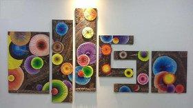 Wooden Mural Art Multicolor