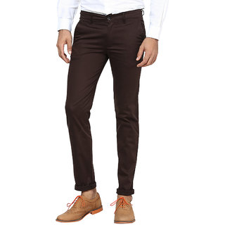 Inspire Brown Slim Casual Chinos