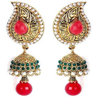 Shining Diva Classic Beaded Hanging Earrings