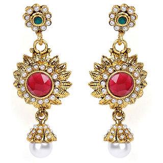 Shining Diva Floral Designed Earrings