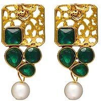 Zaveri Pearls Gold Plated Multi Dangle Earrings For Women