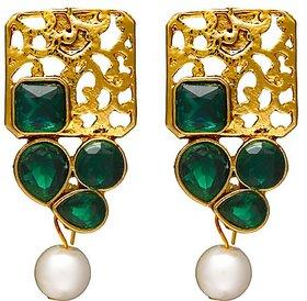 Zaveri Pearls Gold Plated Multi Dangle Earrings For Women