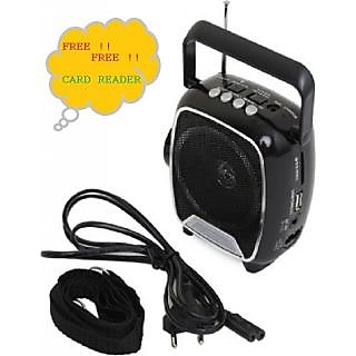 Soroo Rechargable Multimedia FM Radio Player With USB And Torch(Black Or Red as Per Availability)