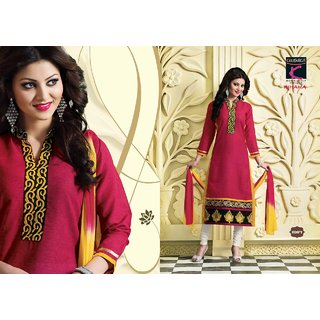 Designer Semi Stitched Embroidered Suit