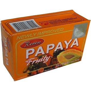 Renew Papaya Fruity Soap For Skin Whitening (135g)