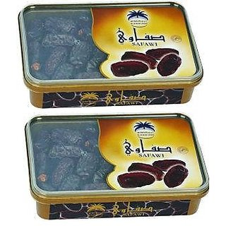 AL ALWANI  SAFAWI Dates 2's Pack  400g X 2 Nos  Imported from Saudi Arabia