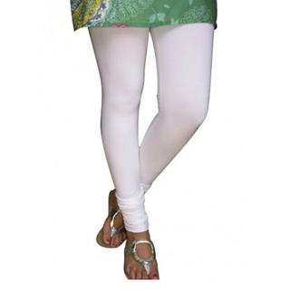 White Cotton Lycra Legging