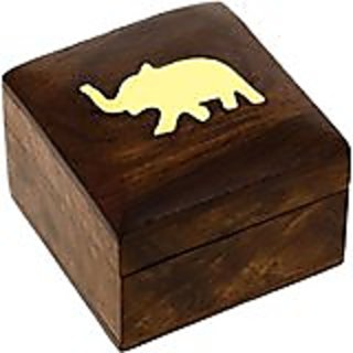 Wooden Jewellery Box for Bracelets Elephant Charm Gift for Her,