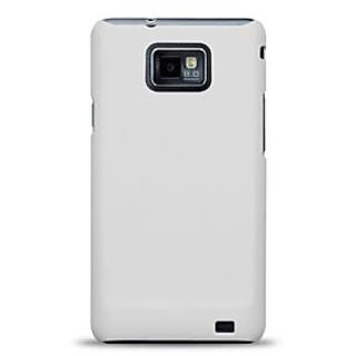 ClickAway  Rubberized Hard Back Case Cover Made For  Samsung Galaxy S2-White