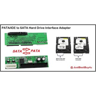 PATA/IDE to SATA Hard Drive Interface Adapter. Connect your SATA HDD in IDE Port