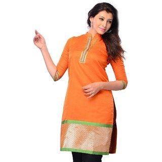 Orange Silk Kurta