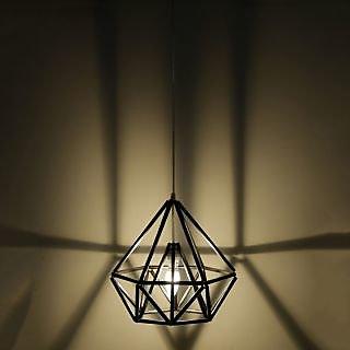 Craftter Diamond Shape Antique Black Hanging Lamp
