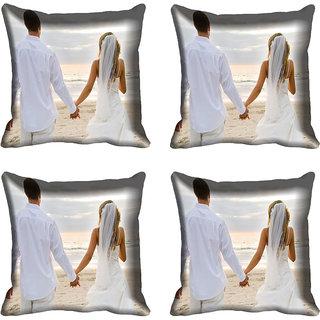 meSleep Couple Digital printed Cushion Cover (16x16)