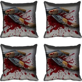 meSleep Gun Digital printed Cushion Cover (16x16)