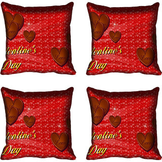 meSleep Heart Digital printed Cushion Cover (16x16)