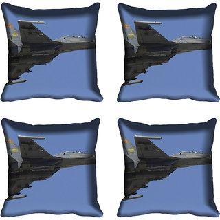 meSleep Fighter Plane Digital printed Cushion Cover (16x16)